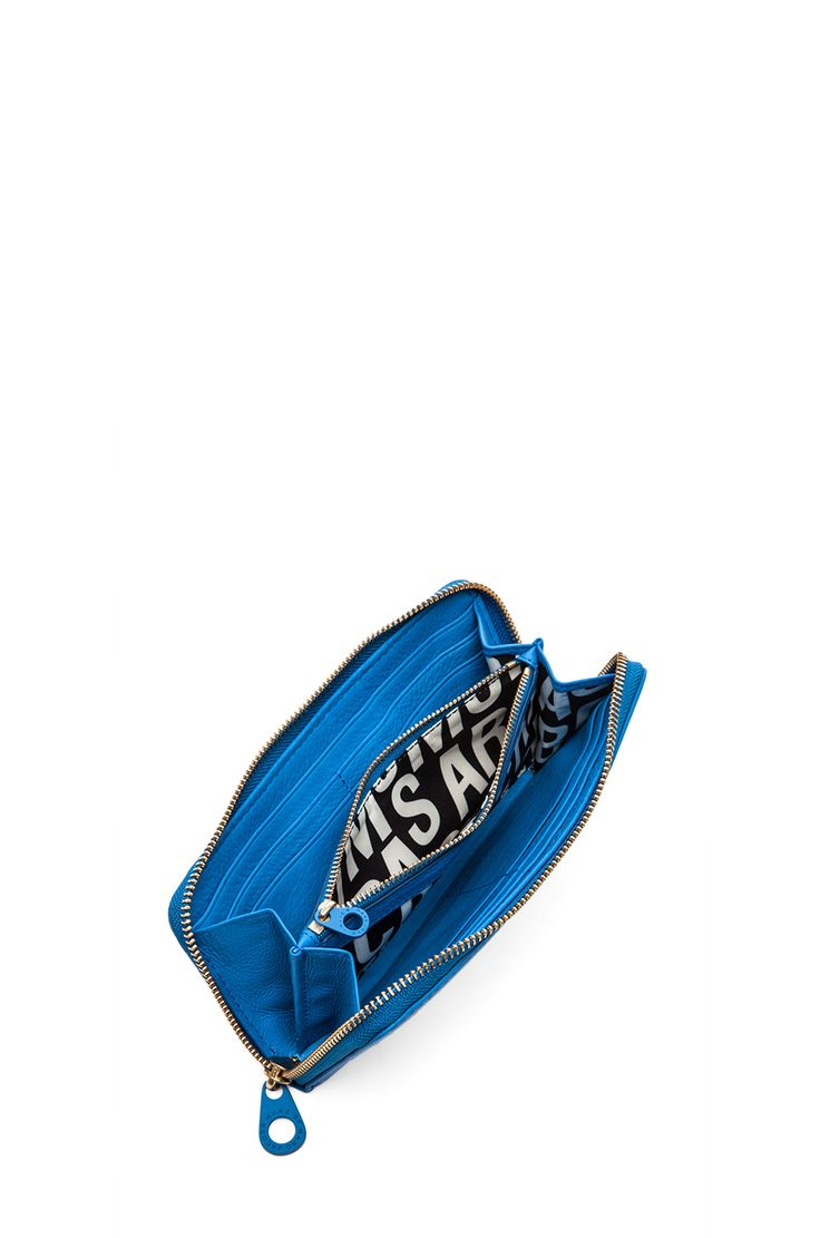Marc by Marc Jacobs Electro Q Slim Zip Around Wallet in Electric Blue Lemonade - $168.76 (reg. $240.24)