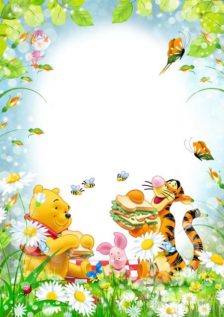 png frame disney frame cartoon frame png hd frame winnie the pooh frame cute kids png