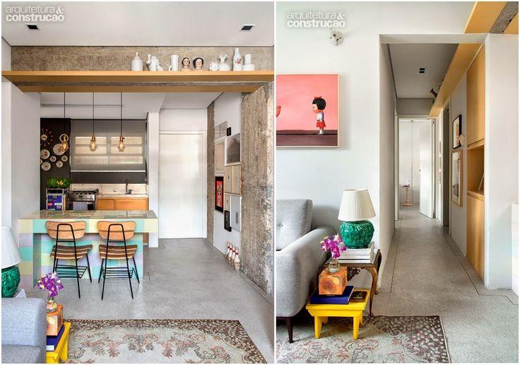 Decoração charmosa e inusitada no apartamento de dois irmãos