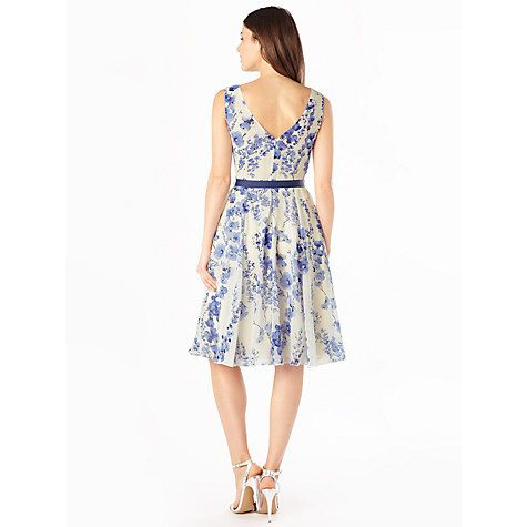 Buy Phase Eight Lana Blossom Dress, Sky Online at johnlewis.com