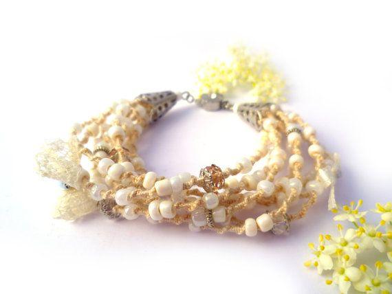 Wedding Bracelet Wedding jewelry Bohemian by Hamelin