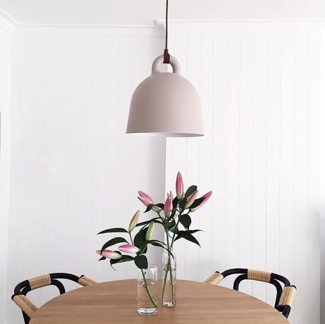 The Beautiful Dining Room Of Ledgelovee Normann Copenhagen Bell Lamp Available At