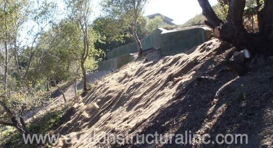 Avalon Structural has extensive experience with retaining walls and stabilizing hill side slopes in Santa Cruz County and the surrounding counties. http://www.avalonstructural.com