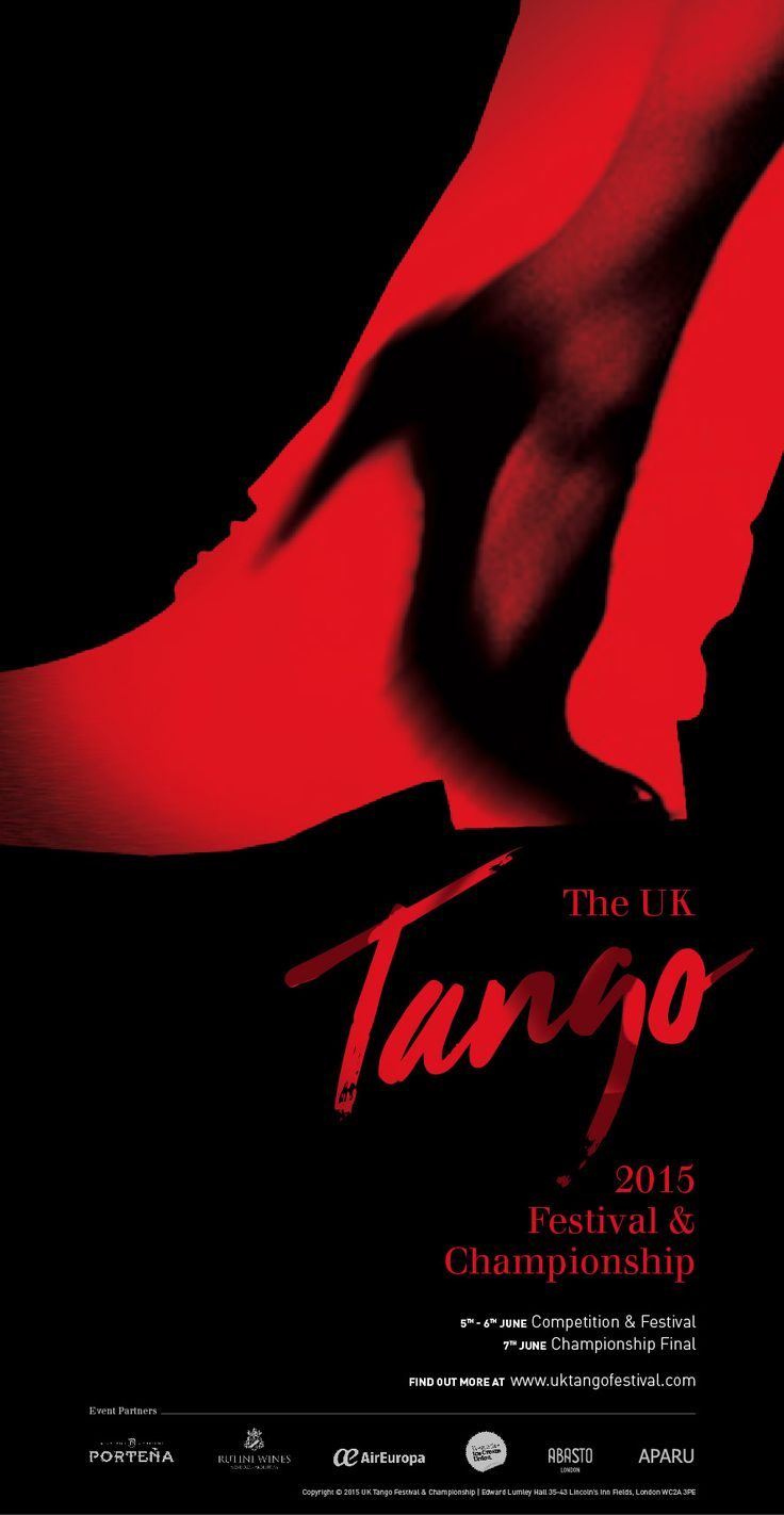 Tango Festival and Championship Poster. Designed by White is Black.