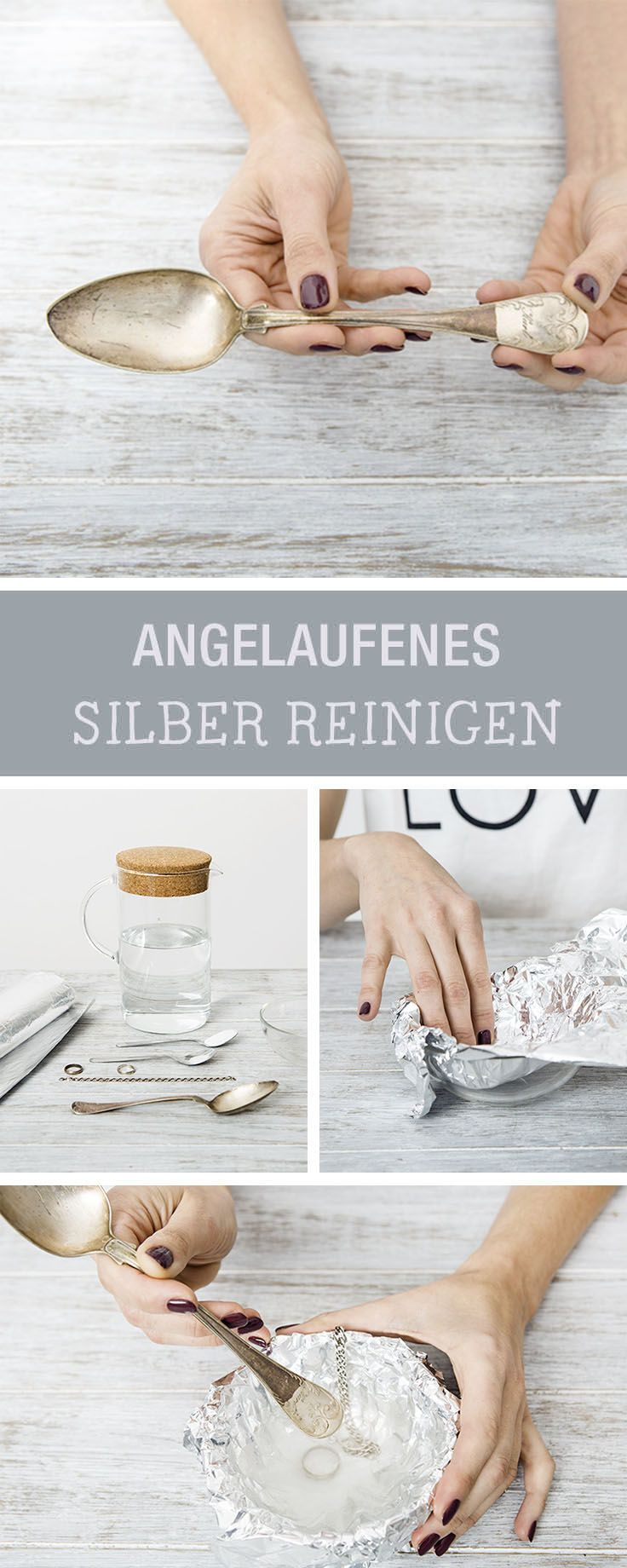 Haushaltstipp: Angelaufenes Silber reinigen, Besteck reinigen / how to bring back the natural shine of tarnished silver via DaWanda.com