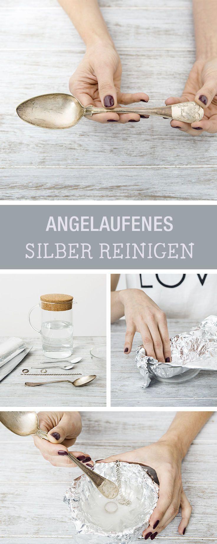 Haushaltstipp: Angelaufenes Silber reinigen, Besteck reinigen / how to bring back the natural shine of tarnished silver via DaWanda.com