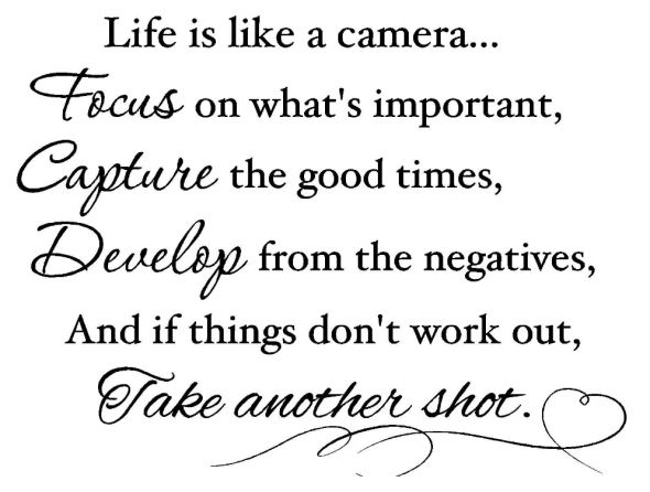 So True... But also, It's always good to Change out the lens and find a different perspective!