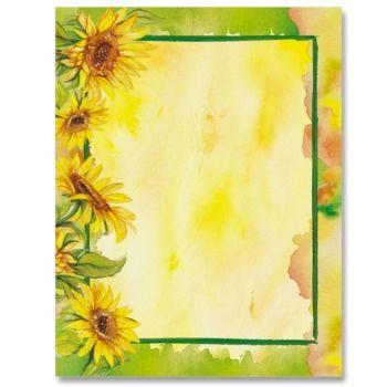 Sunflower Garden Border Papers Garden Borders
