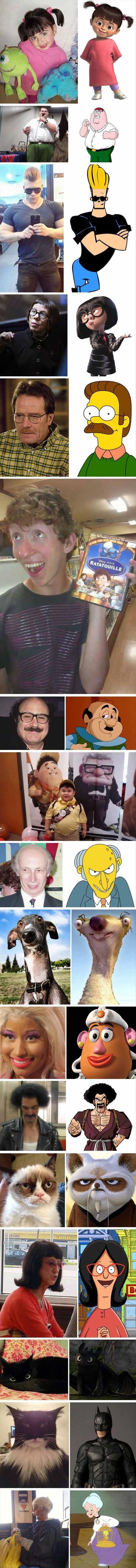 What Famous Characters Look Like In Real Life 18 Pics