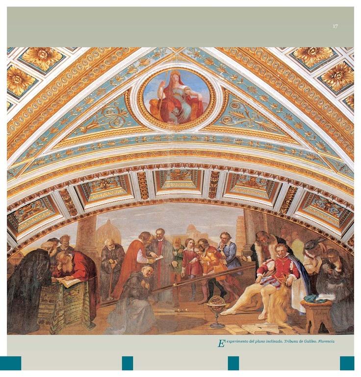 El experimento del plano inclinado. Tribuna de Galileo (Florencia).
