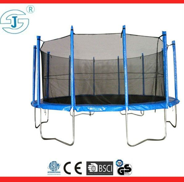 12' Fitness Trampoline with Enclosure AND Basketball Hoop Accessory