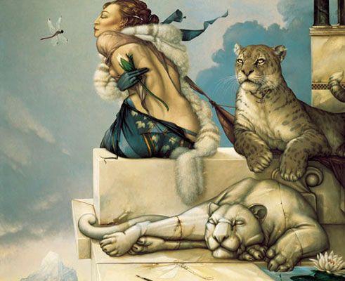 "Michael Parkes art ""Deva"""