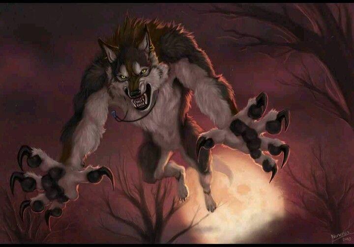 Werewolf transforming