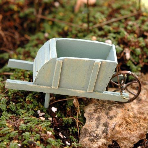 Miniature Blue Wheelbarrow