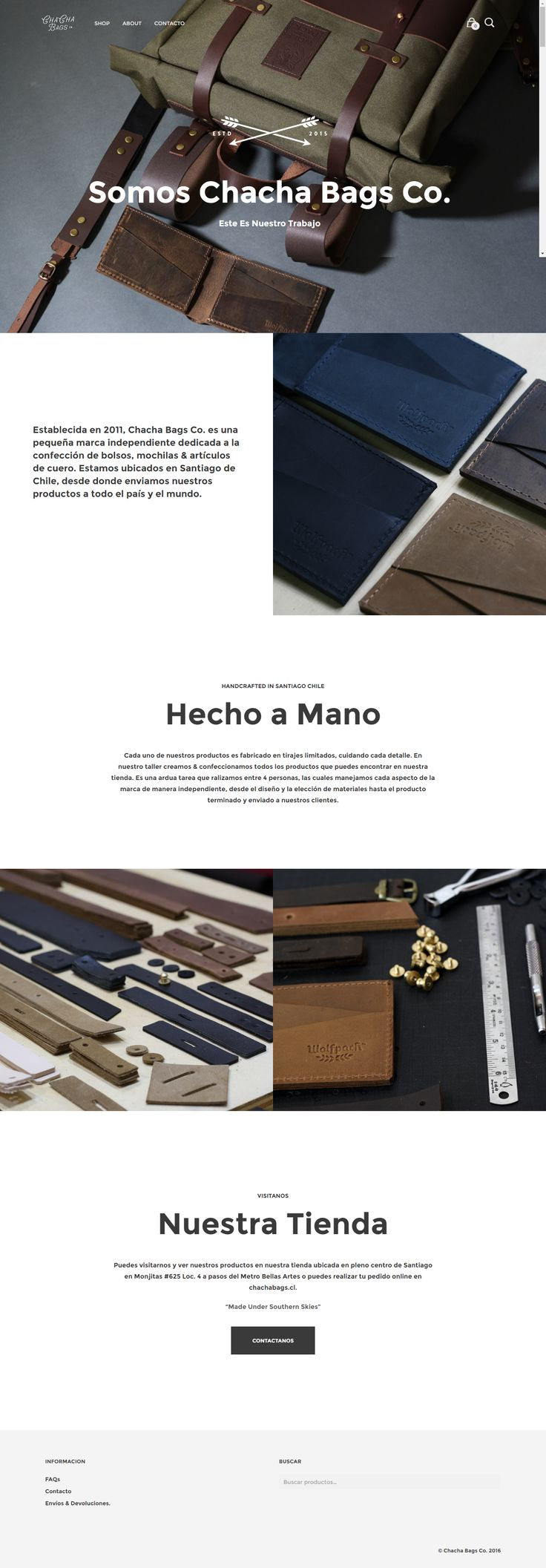 chachabags.cl website, built using Mr Tailor WordPress theme http://themeforest.net/item/mr-tailor-responsive-woocommerce-theme/7292110?&utm_source=pinterest.com&utm_medium=social&utm_content=chacha-bags&utm_campaign=showcase #bags #handmade #website #design #wordpress #onlinestore