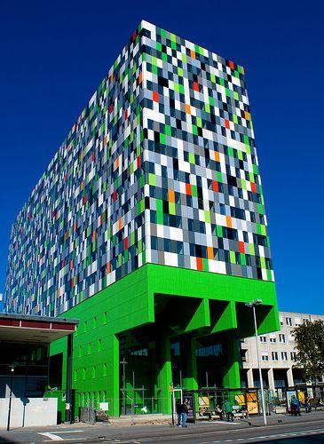 kleur in de architectuur, casa confetti utrecht
