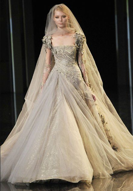 Autumnal Wedding Gown By Elie Saab Very Fairy Tale Esque
