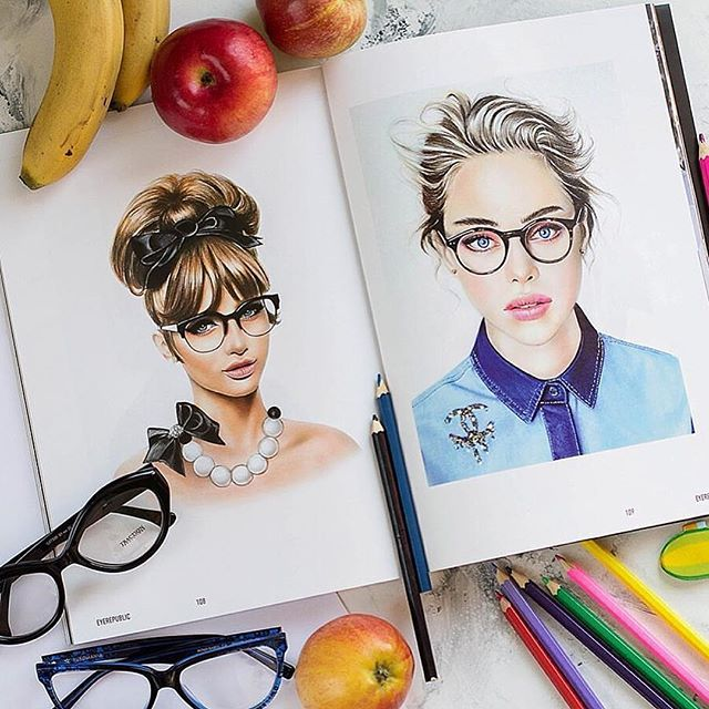 Thank you for the article in the magazine ✏️ Не зря я люблю рисовать девушек в очках:) спасибо за статью @eyerepublic очень приятно почитать о себе и своих работах✌️