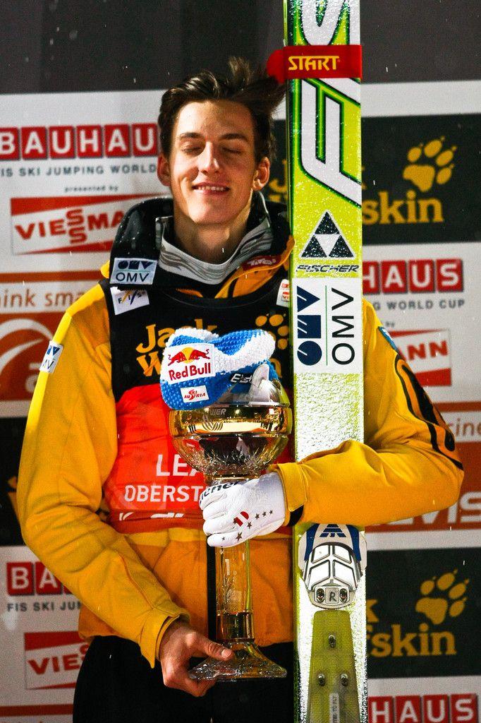 Gregor Schlierenzauer Photos Photos - (FRANCE OUT) Gregor Schlierenzauer of Austria celebrates 1st place during the FIS Ski Jumping World Cup Vierschanzentournee (Four Hills Tournament) on December 30, 2011 in Oberstdorf, Germany. - Four Hills Tournament - Oberstdorf Day 2