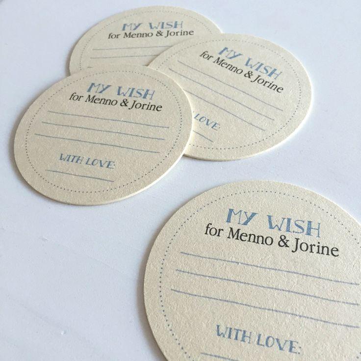 Gastenboek, maar dan ff anders ;) • Bierviltjes • Wedding • Guestbook • studiosproet.com