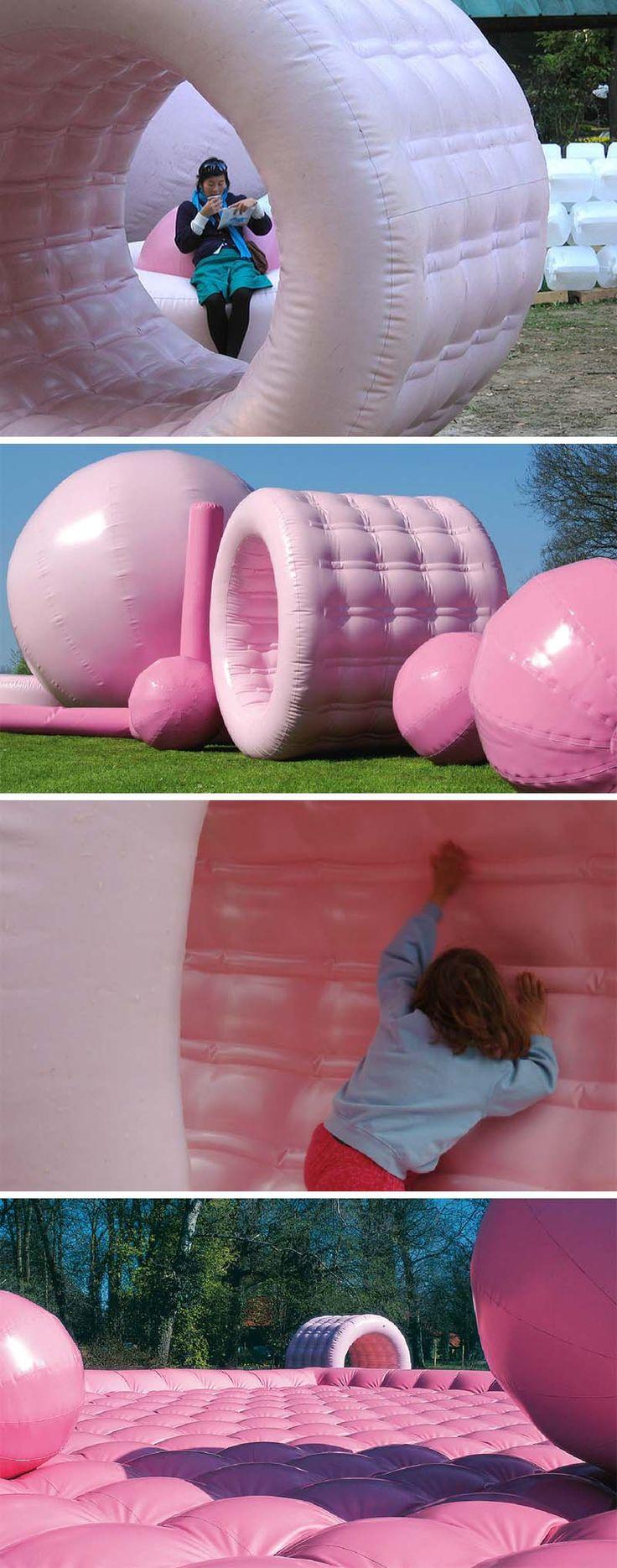 Topotek 1, Cool, inflatable, temporary playground, installation, interactive, landscape architecture, State Garden Show Wolfsburg