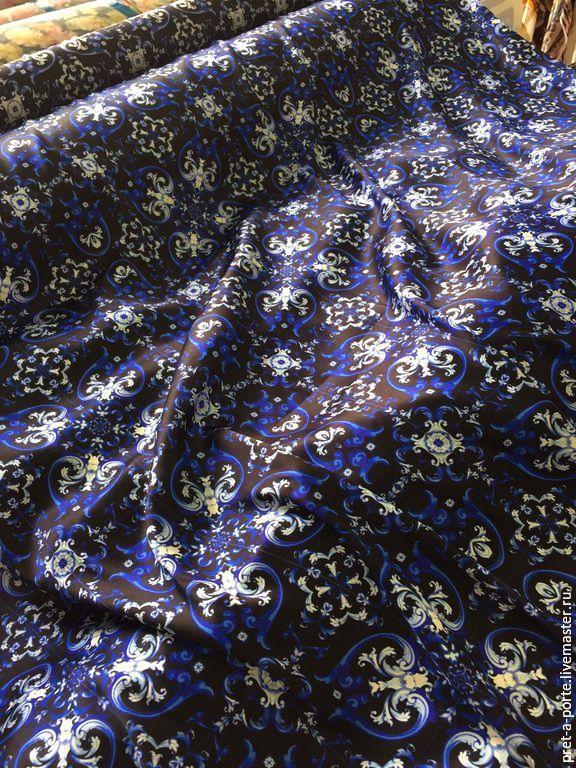 Купить Maiolica шелковый сатин стрейч, Италия-20% - итальянские ткани, итальянский шелк