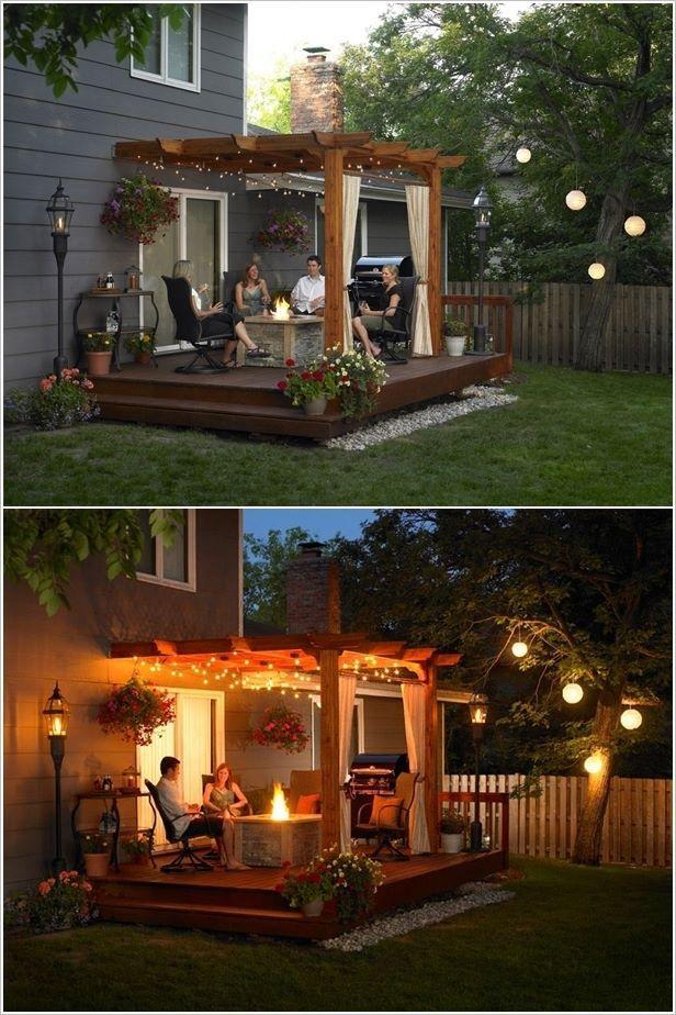 String lighting can really take your backyard
