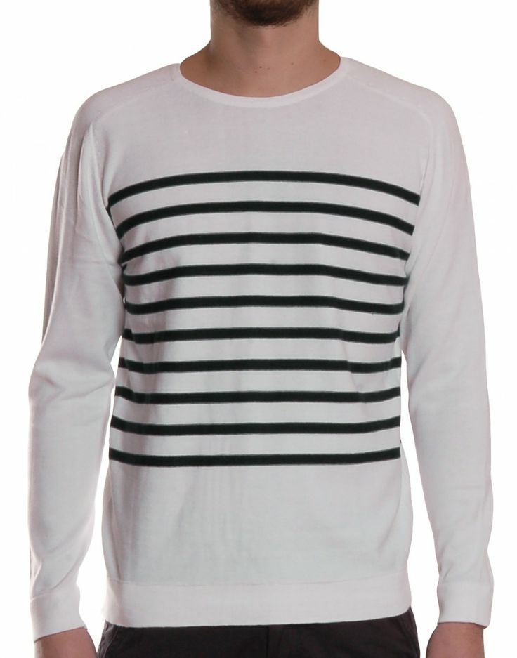 # Pull blanc à rayures http://www.letagehomme.com/pull-blanc-a-rayures-selected-vetements-homme.html