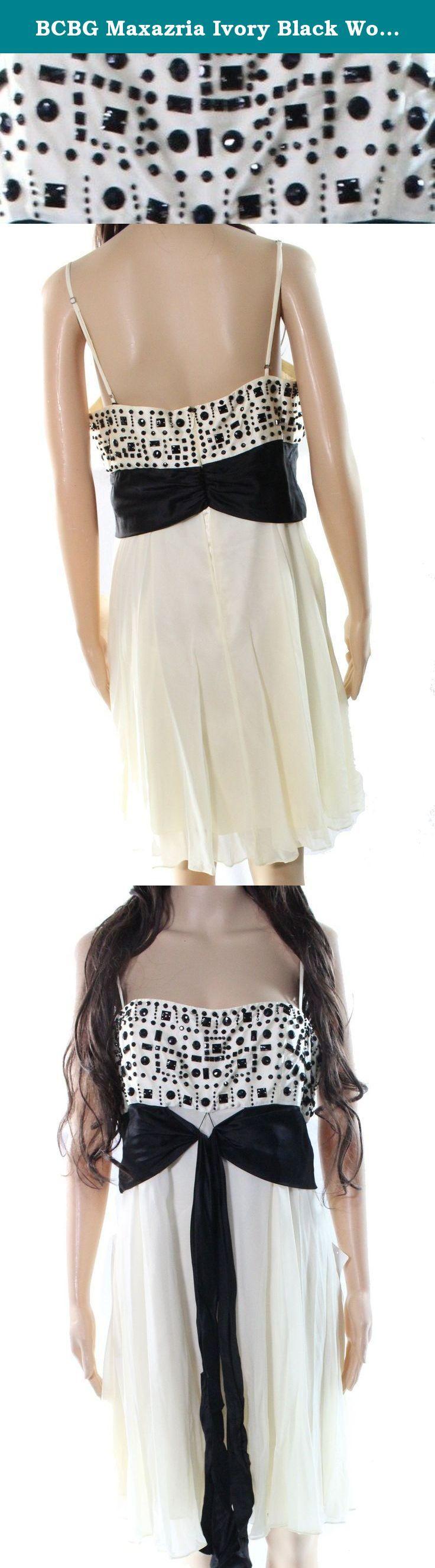 BCBG Maxazria Ivory Black Womens Empire Waist Silk Dress White Ivory 12. BCBG Maxazria Ivory Black Womens Empire Waist Silk Dress White Ivory 12.