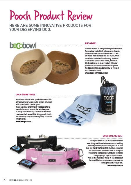 Check out our feature in Pooch Products! #pooch #products #bamboo #press #feature