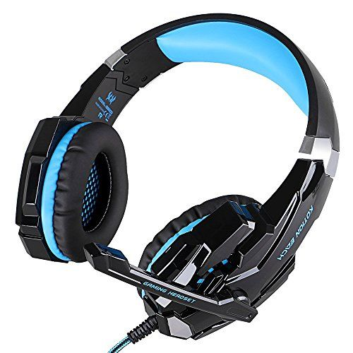 Special Offers - Convoy 3.5mm Jack Gaming Headset Game Headphone Headsets with Microphone LED Light for PS 4 Laptop Tablet All Mobile Phones with Noise Cancelling & Volume Control Blue (BlackBlue) - In stock & Free Shipping. You can save more money! Check It (April 10 2016 at 07:27PM) >> http://wheadphoneusa.net/convoy-3-5mm-jack-gaming-headset-game-headphone-headsets-with-microphone-led-light-for-ps-4-laptop-tablet-all-mobile-phones-with-noise-cancelling-volume-control-blue-blackblue/