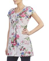 Floral Print Cotton Jersey Tunic Top - Laura Ashley