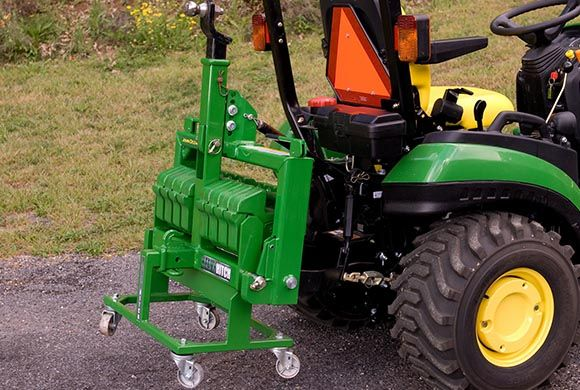 Compact Tractor Attachments | Hitch & Suitcase Weight Cart