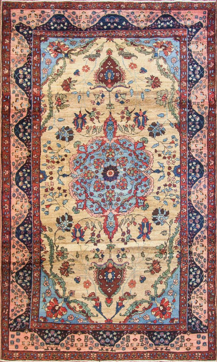 Persian Tabriz rug, 198cm x 323cm, ca 1900, Eli Peer Oriental Rugs