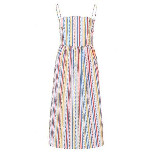 Sugarhill Boutique Candy Stripe Full Skirt Sundress ($72) ❤ liked on Polyvore featuring dresses, maxi dresses, midi sundress, full midi skirt, fit and flare dress and maxi sun dresses