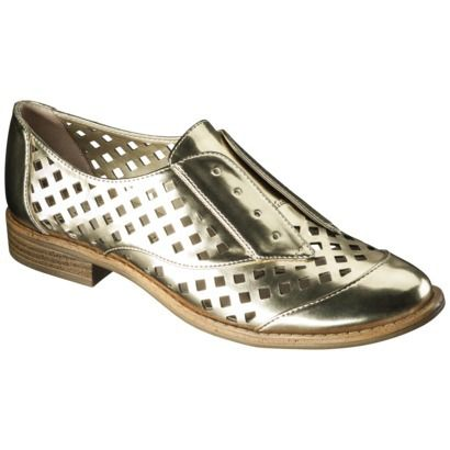 Metallic shoes are all the rage and these 10 pairs won't break the bank: Metallic Oxfords