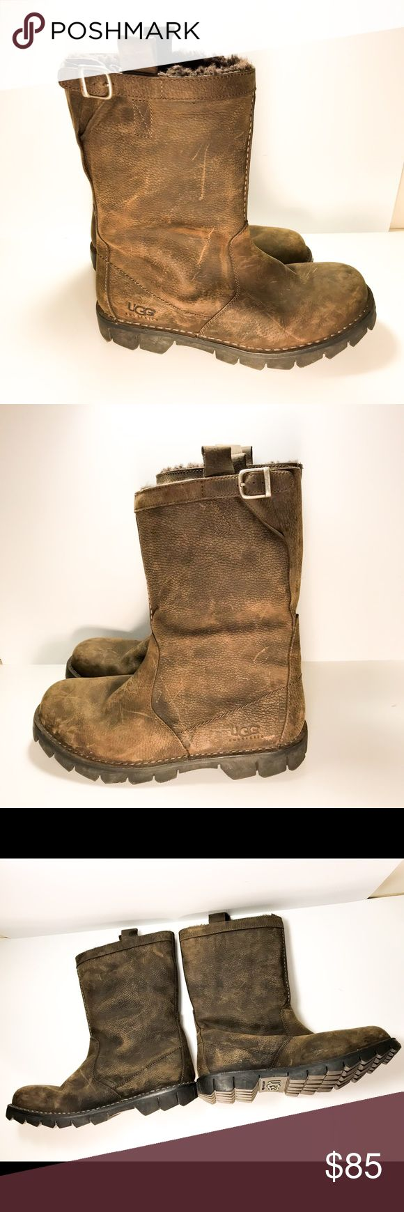 🎉Just In🎊 Men's UGG® Australia Berrien Boots In good condition some marking on the leather from storage please see pictures for marks on uppers as they aged. Worn only once.   - Uppers are full grain leather, lined with sheepskin.   - Outsole utilizes floating rubber technology.   - Insoles are made of genuine sheepskin. Sheepskin insoles naturally wick away moisture from your feet and help keep them dry.   - If you're between sizes, half size up  - 🚭 Smoke Free Home UGG Shoes Boots