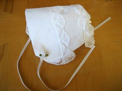 DIY Tutorial - Making a Hankie Bonnet Out of Wedding Handkerchiefs