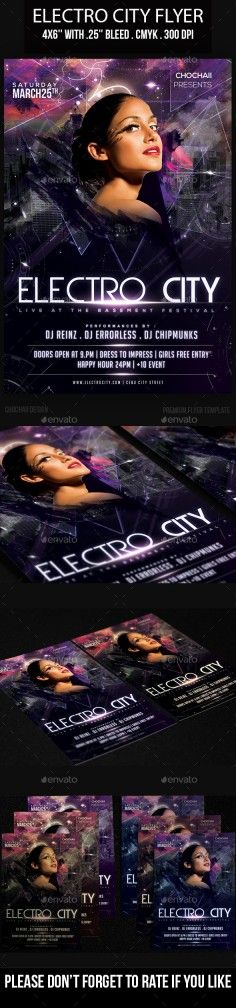 Best Edm House And Dubstep Night Club Flyer Templates For