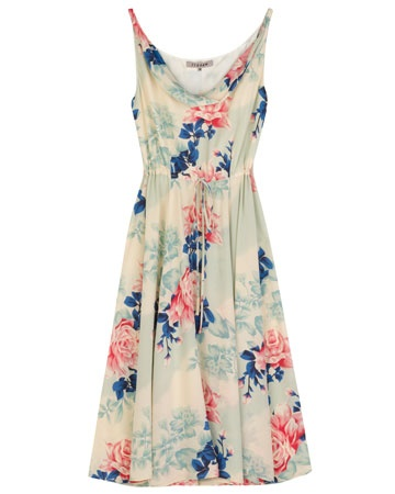 Cute bridesmaid floral dress by Jigsaw. Made from silk crepe de chine