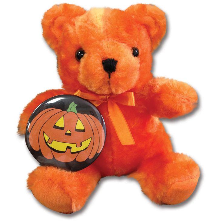 B9325 - Wholesale Teddy Bears - Orange Bear with Button