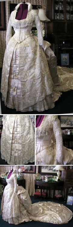 1880's wedding gown