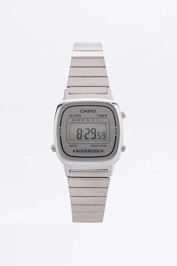 Casio Silver Mini Digital Watch