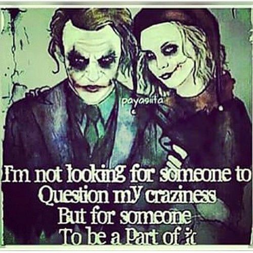 Joker Love Quotes : quotes joker quotes harley quinn quotes joker and harley crazy love ...