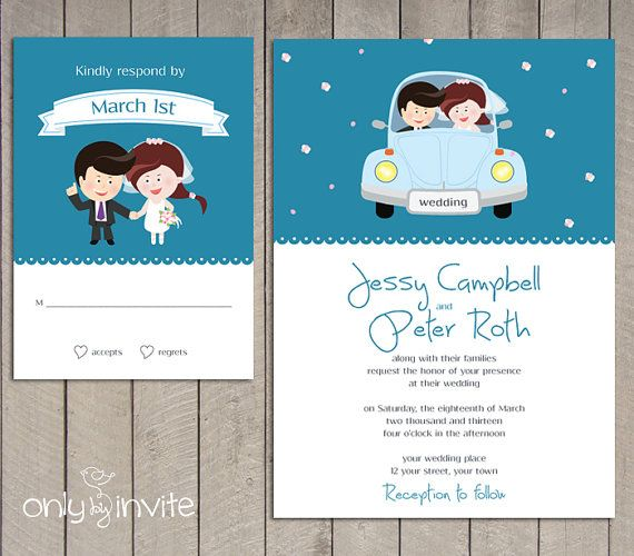 Wedding Invitations Set as beautiful invitation sample