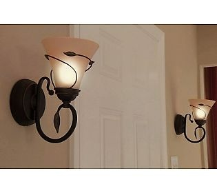Candle Impressions S/2 Vine Wrapped Flameless Sconces w/Timer Battery operated and QVC