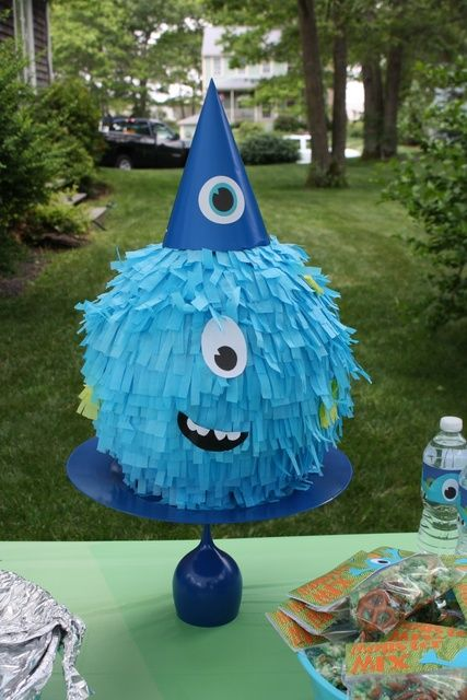Pinata at a Monster Party #monsterparty #pinata