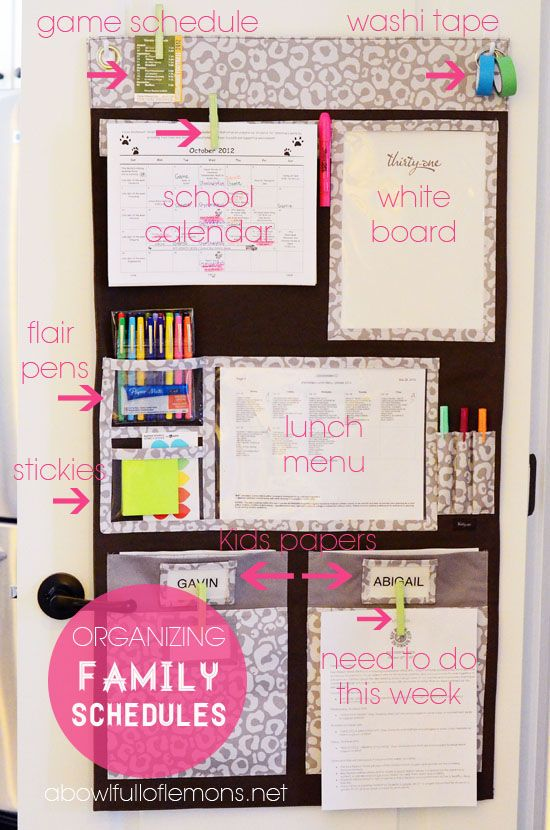 purchase this system from a thirty-one consultant or integrate something similar for scheduling.  see webpage for more detail inspiration.