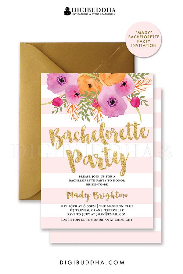 45 best Digibuddha Bachelorette Party Invitations images on ...