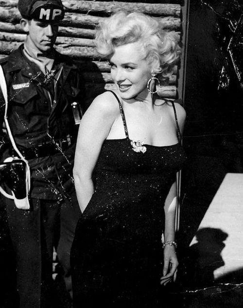 Gorgeous Marilyn Monroe during Korean War